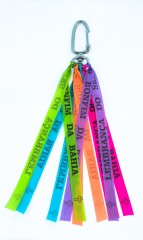 Live Brazilian Key Chain with Neon Brazilets and Brazilian Pride Charm