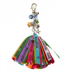 Live Brazilian Key Chain with Sea-Themed Charms