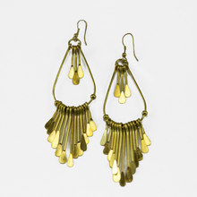 Live Indian Gold Fringe Earrings