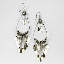 Live Indian Silver Fringe Earrings