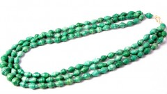 Live Ugandan Teal Martha Necklace