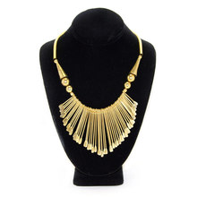 Live Indian Gold Fringe Necklace