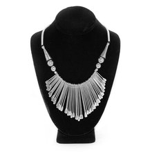 Live Indian Silver Fringe Necklace