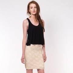 Live American Alexandria Skirt in Ivory