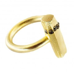 Live American Pame Gold Bar Ring