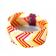 Live Thai Pink and Yellow Zigzag Stripe