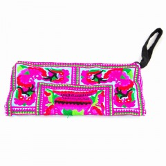 Live Thai Traditional Wristlet Wallet Pink