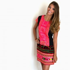 Live Thai Vintage Bai Fhai Dress Pink