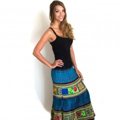 Live Thai Hmong Skirt Blue
