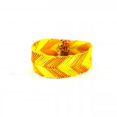 Live Thai Straw Bangle Yellow and Gold