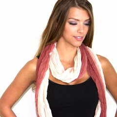 Live Thai Striped Scarf Red and White