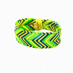 Live Thai Straw Bangle Green
