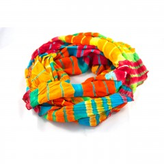 Live Indian Recycled Sari Rainbow Scarf