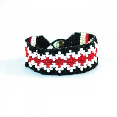 Live Indian Kiran Bracelet Red and White