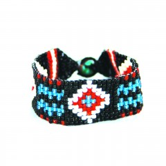 Live Indian Kiran Bracelet White and Turquoise