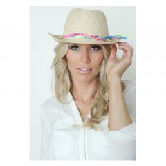Live Brazilian Fedora Hat with Brazilets