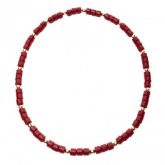 Live Nigerian Bead Necklace Red